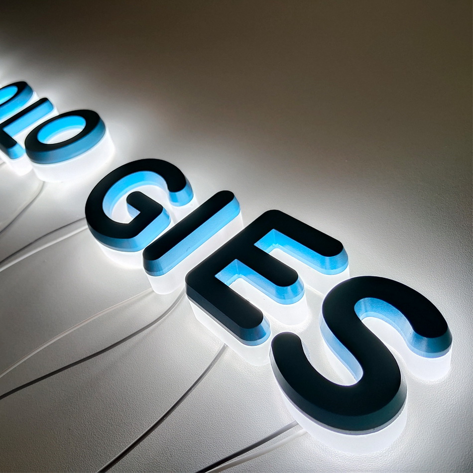 High Quality Waterproof Advertising Solid Acrylic Backlit LED Shop Sign
