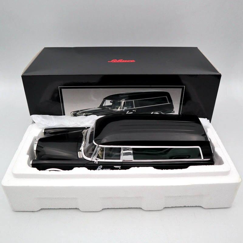 SCHUCO 1:18 Mer-es-B-nz 600 HEARSE FUNERAL CAR 1965 CARRO FUNEBRE Toys Car Models Black
