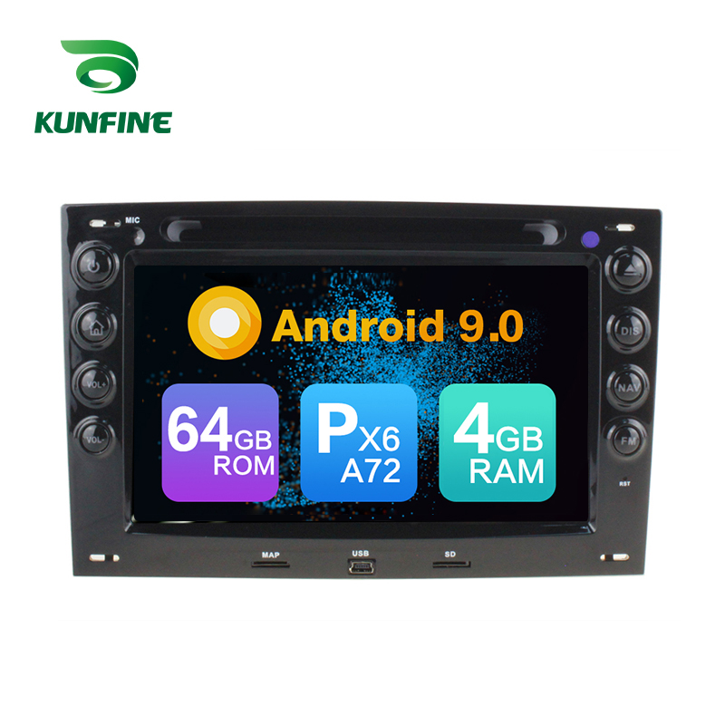Android 9.0 Core PX6 A72 Ram 4G Rom 64G Car <font><b>DVD</b></font> <font><b>GPS</b></font> Multimedia Player Car Stereo For Renault <font><b>Megane</b></font> 2003-2008 radio headunit image