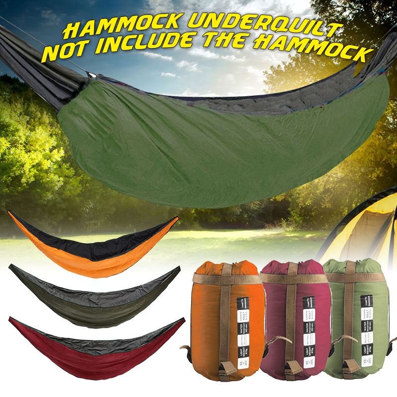 Camping Hammock Outdoor Hammock Underquilt Sleeping Bed Portable Warm Travel Survival Hunting Cotton With Storage Bag