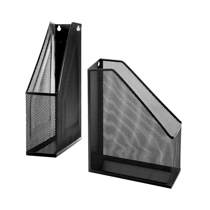 File Holder Magazine Metal Mesh Iron Wall Desk Hanging Suspension Document Data Finishing Storage