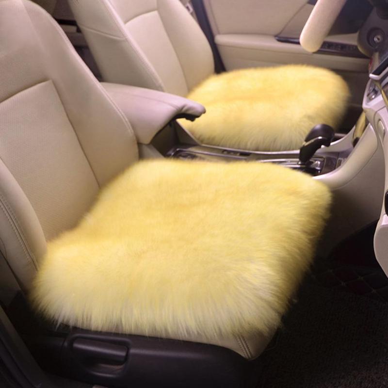 Inverno Quente Do Carro Universal Auto Assento Almofada de Pelúcia Almofada Do Assento De Lã Casa Tapete de Cadeira de Escritório Assento de Carro Almofada de Lã De Pêlo cadeira Almofada Nova