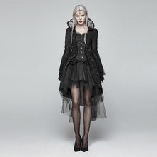 Punk Rave Women Dress Coat Gothic Lace Turtleneck Palace Jacket Victorian Cosplay Stage Performance Costume