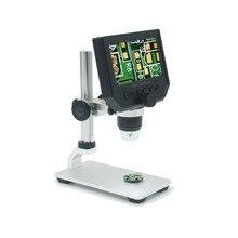 1 adet taşınabilir 8 LED büyüteç elektronik 1 ~ 600x elektron mikroskobu 1080P yüksek çözünürlüklü LCD dijital ekran destekleyen 1 64GB Micro SD