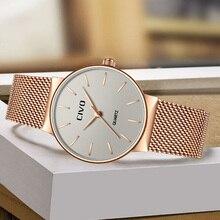 CIVO New Fashion Ladies Waterproof Mesh Strap Quartz Watches Top Brand Luxury Wrist Clock Bayanlar Izle Reloj De Dama