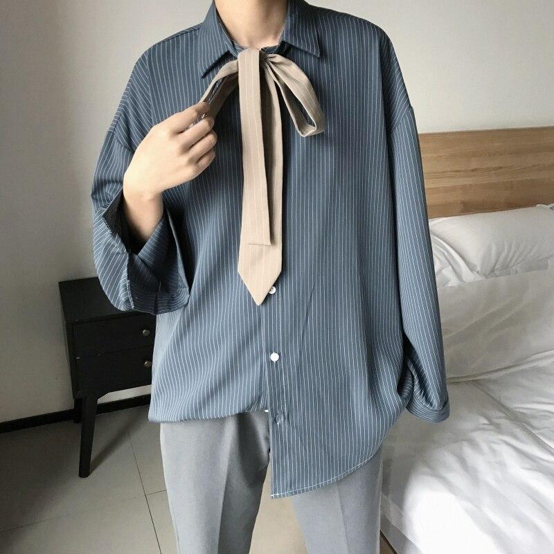 2019 Summer Men's Fashion Trend Clothing Pattern Loose Cool Short Seven Part Sleeve Black/green/navy Color Shirt Big Size M-5XL