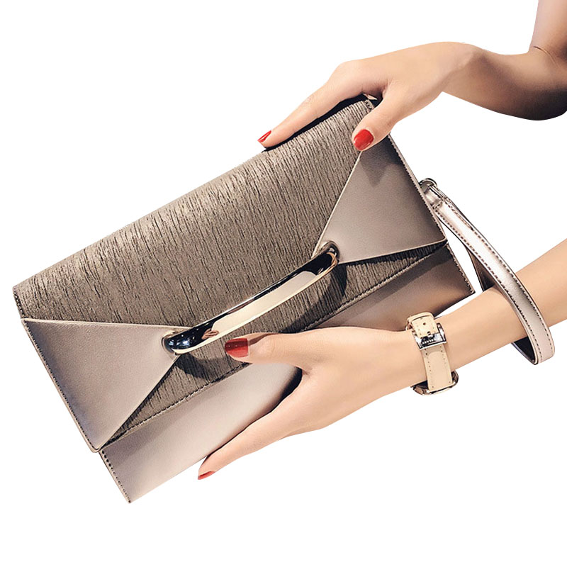 ABDB-Envelope Clutch Bag Women Leather Birthday Party Evening Clutch Bags For Women Ladies Shoulder Clutch Bag Purse Female