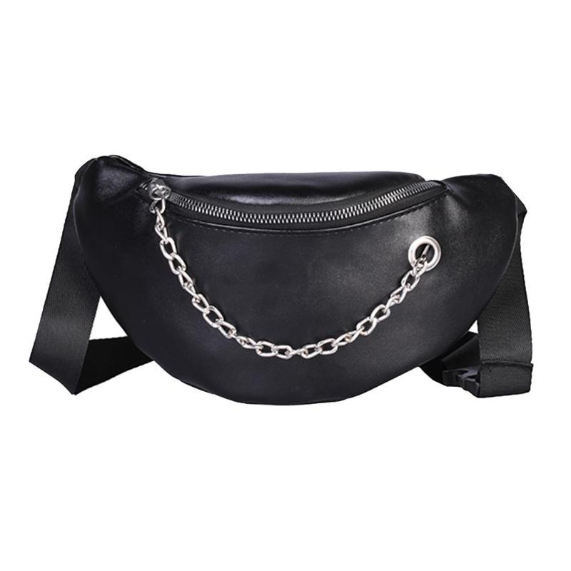 Women Waist Bags Fanny Pack Glitter Belt Chest Bag Small Shoulder Bag Lady Belly Belt Bags Waist Pack Purse(Black)