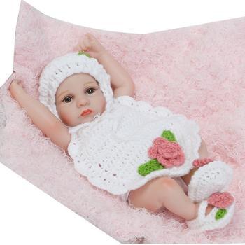 Full Body Silicone Vinyl bebe Reborn Brinquedo Girl Reborn Boneca Mini Babies Dolls Educational Toys Lifelike Birthday Gifts warkings reborn