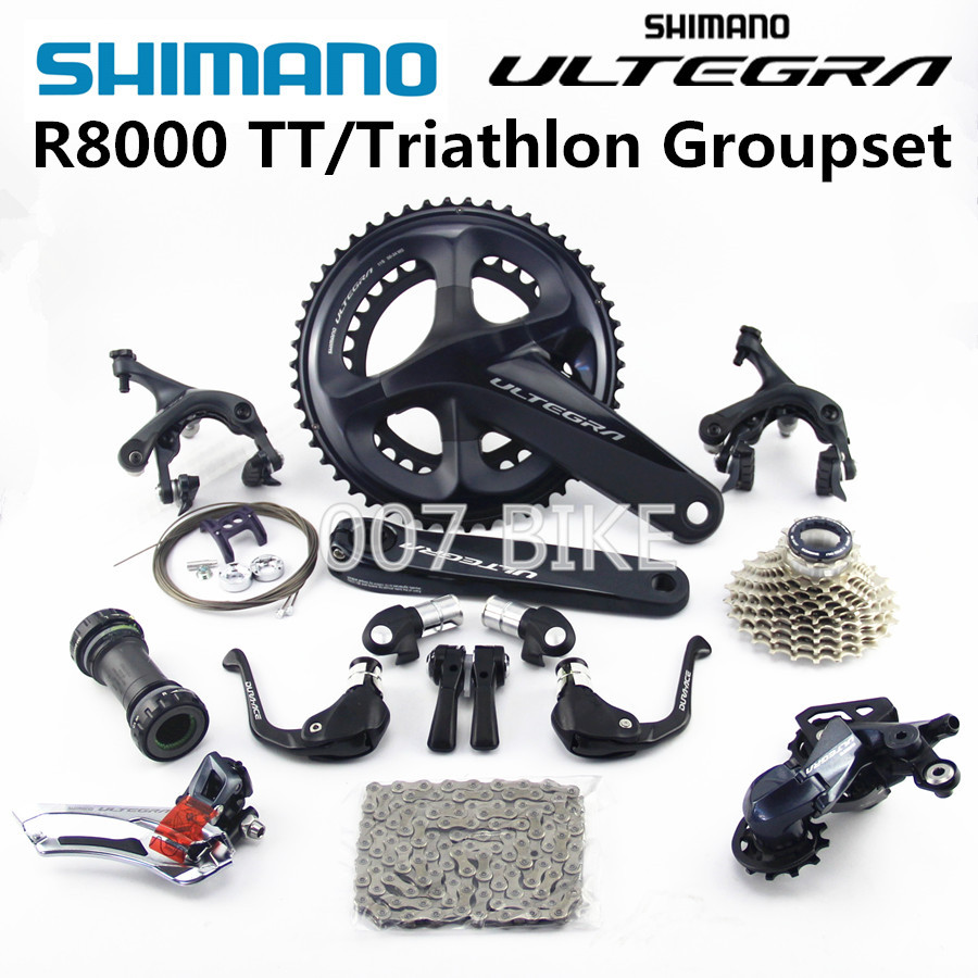 SHIMANO R8000 TT Triathlon Groupset ULTEGRA R8000 Derailleurs ROAD Bicycle 50 34 52 36 53 39T