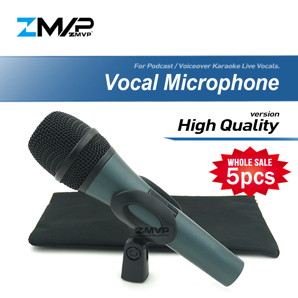 5pcs/lot High Quality Version E845S Professional Live Vocals Wired Microphone Karaoke Cardioid Dynamic Microfone Microfono Mic