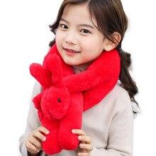 Детский имитирующий шарф для волос кролика Рекс, имитирующий объемный кроличий утепленный шарф
