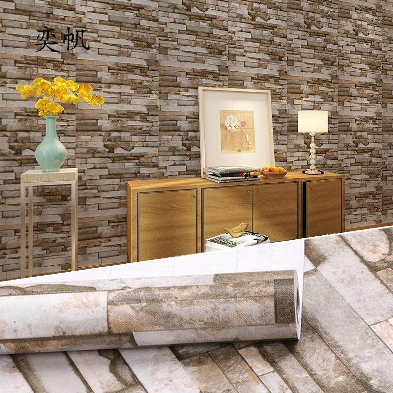 US $2.54 25% OFF Wohnzimmer Küche Wände Wandmalereien PVC Selbst adhesive  Vinyl Rollen Badezimmer Tapete Vintage Wasserdichte Wand Papier ...
