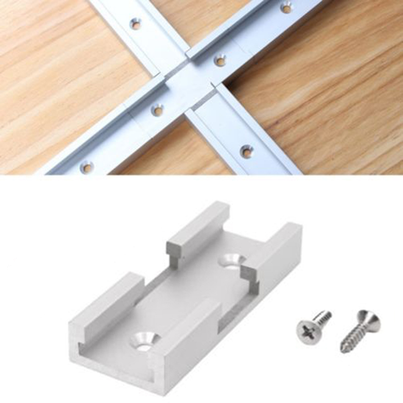 1 X T-Track Intersection Kit Aluminum T-Slot Connecting Parts Woodworking Tools