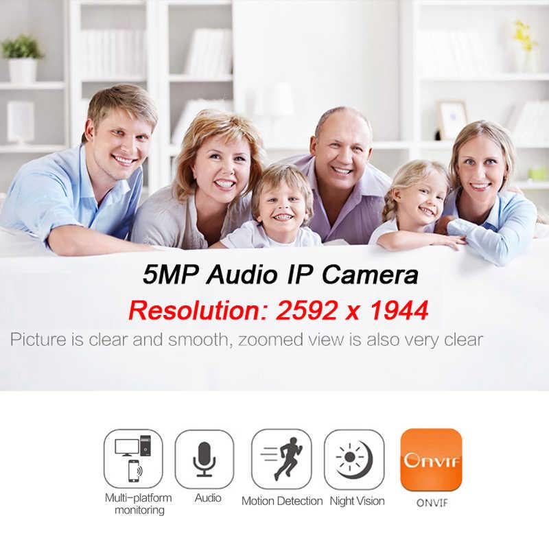 5MP Poe Audio Ip Camera Cctv Video Surveillance IPCam Infrarood Home Outdoor Waterdichte Nachtzicht CCTV Bullet XMEye