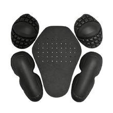 5 шт. съемные, из ЭВА для верховой езды Наплечные налокотники для спины, защитные накладки, набор для защиты мотоцикла, комплект одежды, встроенный в гоночный предохранитель