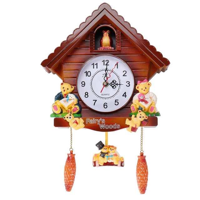 vintage cuckoo clock living room wall clock bird cuckoo alarm clock watch modern brief children. Black Bedroom Furniture Sets. Home Design Ideas