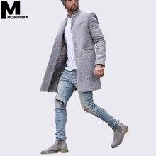 2019 New Arrived Long style men blend wool jacket men coat Streetwear stylish hip hop men jacket windbreaker overcoat
