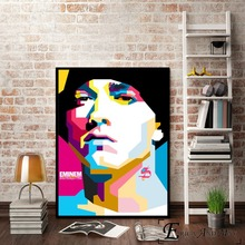 Eminem Pop Portraits Canvas Painting Posters And Prints For Living Kids Room No Framed Wall Art Picture Home Decor On Sale