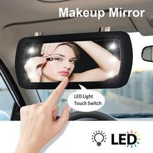 Universal Car LED Finger Touch Switch Makeup Mirror Sunvisor High Clear Interior Mirror 1Pcs HD Clear View Sun Visor(China)