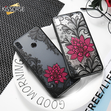 KISSCASE Texture Lace Flower Case For Samsung Galaxy A6 Plus A7 A8 2018 Full Fitted Soft Funda