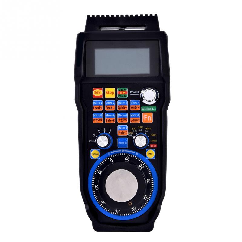 Aluminum alloy CNC Handwheel Wireless Electronic Handwheel 4 Axes Controller Manual Pulse Generator MPG for CNC