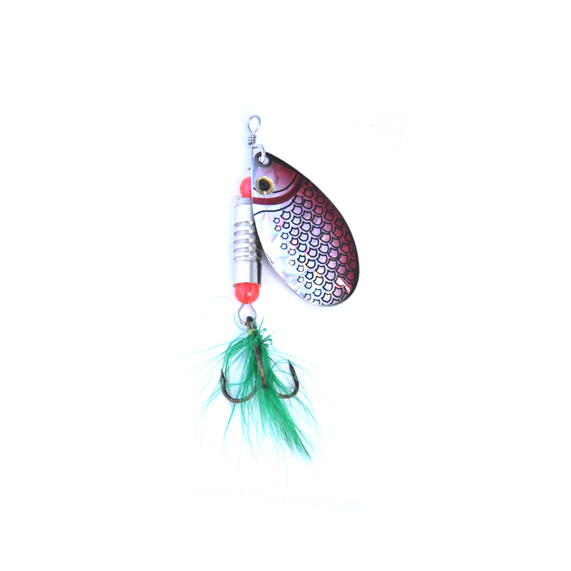 OLOEY 10 12g Spoon Bait Fishing Spinner Lures Metal Sequins Spoons Sets Artificial Hard Trout Treble Tackle-in Fishing Lures from Sports & Entertainment