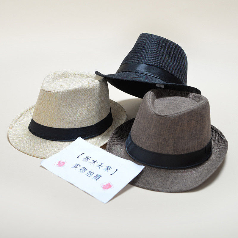 Fashion Summer Cool Panama Wide brim Fedora Straw Made Indiana Jones Style Hat