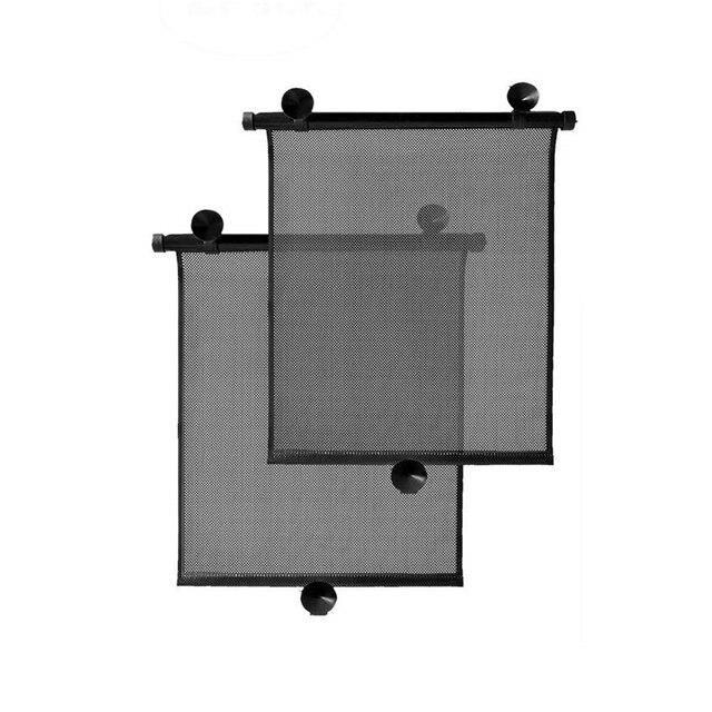 2 × 40 × 46 センチメートル格納式カーウィンドウサンシェードバイザーロールカーテンブラインド吸引パッド