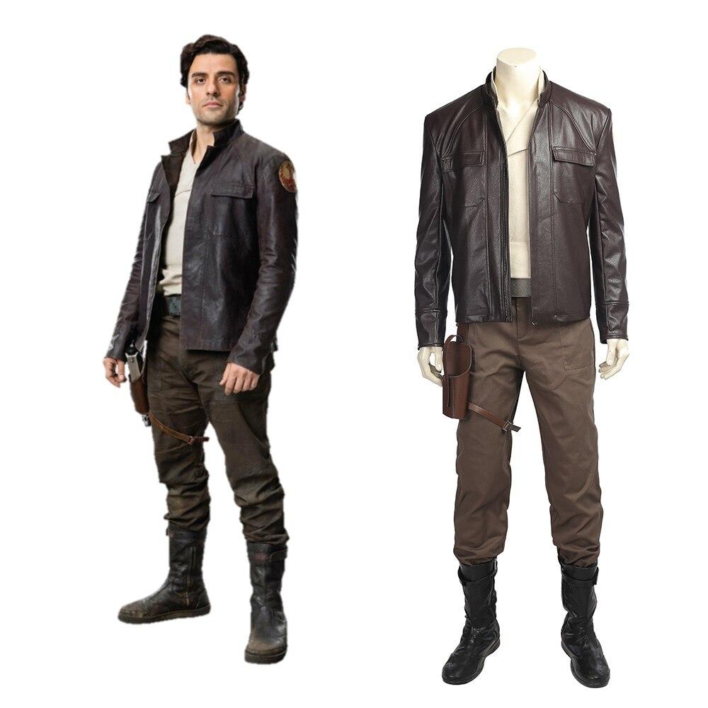 Star Wars Episode VIII The Last Jedi Poe Dameron Cosplay Costume
