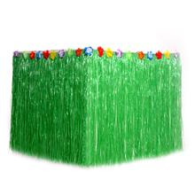 Fashion Hawaiian Table Skirt Prom Party Decoration Ordinary Army Green Seaside Resort Center Supplies