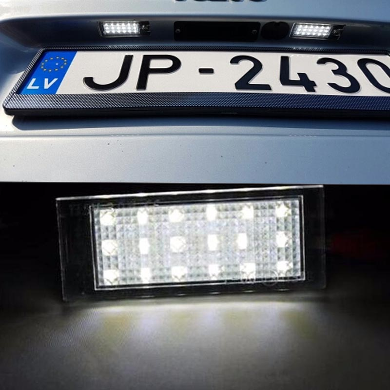 2x <font><b>LED</b></font> SMD Number License Plate Lights <font><b>Lamp</b></font> for Mercedes-Benz Smart Fortwo Coupe 453 + B.rabus <font><b>Renault</b></font> Megane 2 Clio Laguna 2 image