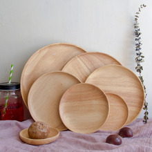 Creative Fruit Plate Nordic Home Plate Cutlery Set Wooden Plate Japanese Style Dinner Plate Placemat Dish