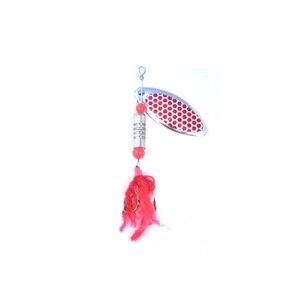 Image 2 - OLOEY 5 7g Câu Cá Thìa Mồi Kim Loại Màu Bạc Mồi Con Quay SpoonFishing Dụ Mồi Kim Sa Lấp Lánh với Lông Vũ Bass treble