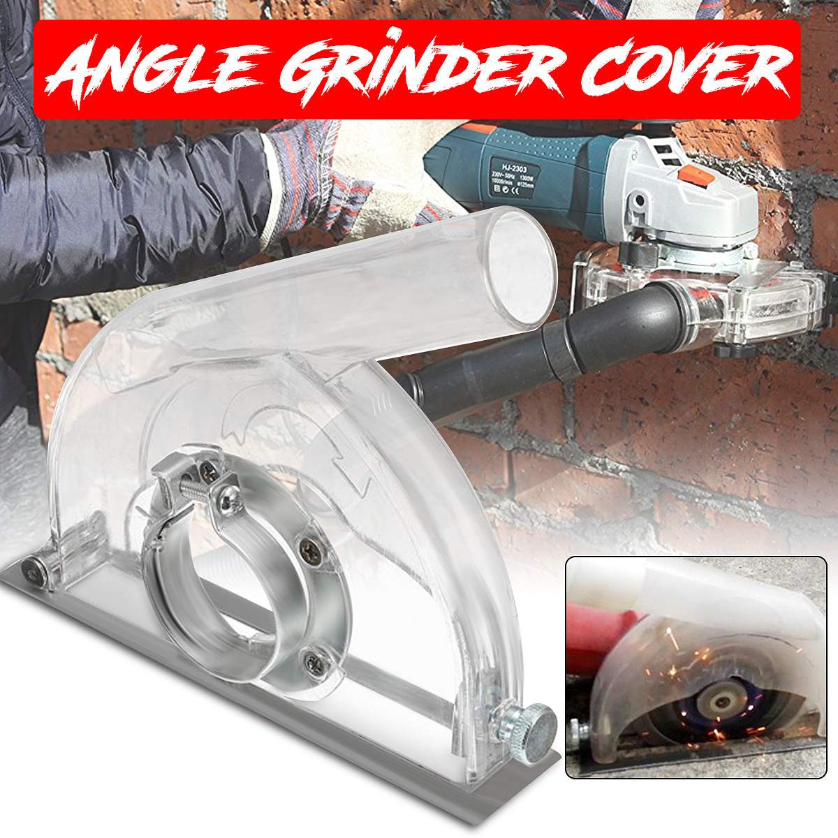 Angle Grinder Cutting Clear Transparent Grinding Dust Cover For 4/ 5'' Grinder