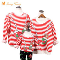 Family Clothing Winter Sweater Clothes New Year Christmas Children Clothing Kid Shirt Polar Fleece Warm Family Matching Outfits