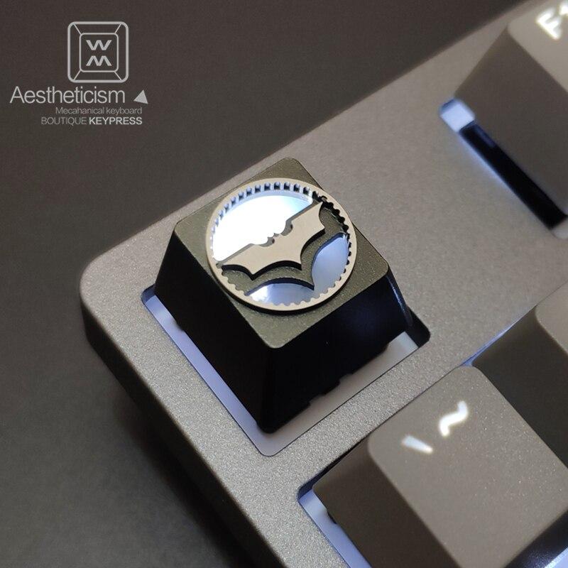 1pc liga de alumínio tampa chave para dc batman searchlight teclado mecânico retroiluminado keycap r4 altura cnc processo de oxidação anódica