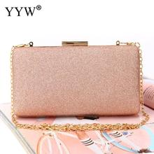 Women Evening Clutch Bag Diamond Sequin Clutch Female Crystal Day Clutches Wedding Purse Party Banquet Box Chain Bags For Women цена 2017