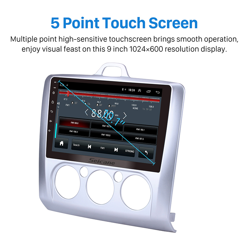 Seicane Android 8.1 9 inch RAM 2GB IPS 2DIN DSP 4G Car Auto Radio GPS Navi Unit Player For Ford Focus 2 Exi MT 2004 2005 -2011