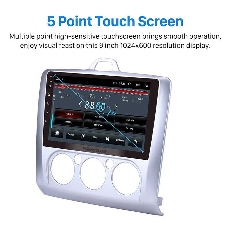 Seicane Android 8,1 Quad Core ROM 16GB Radio, navegación GPS para coche unidad jugador 9 pulgadas para Ford Focus 2 Exi MT 2 3 MK2/MK3 2004-2011