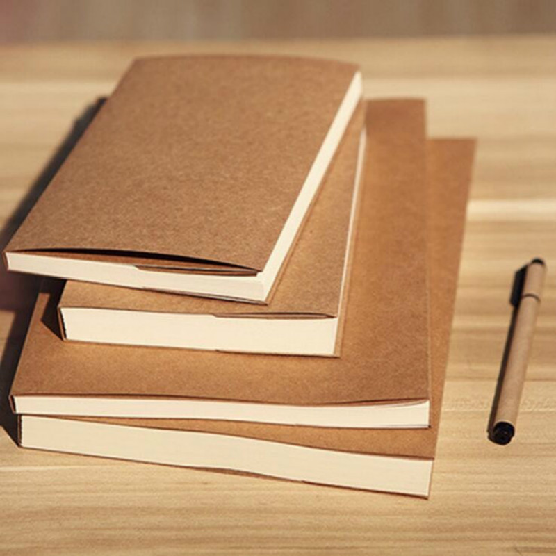 32K Retro Craft Paper Blank Sketchbook Bullet Journal Cute Notebook Paper Weekly Planner Accessories Stationery Diary 01604