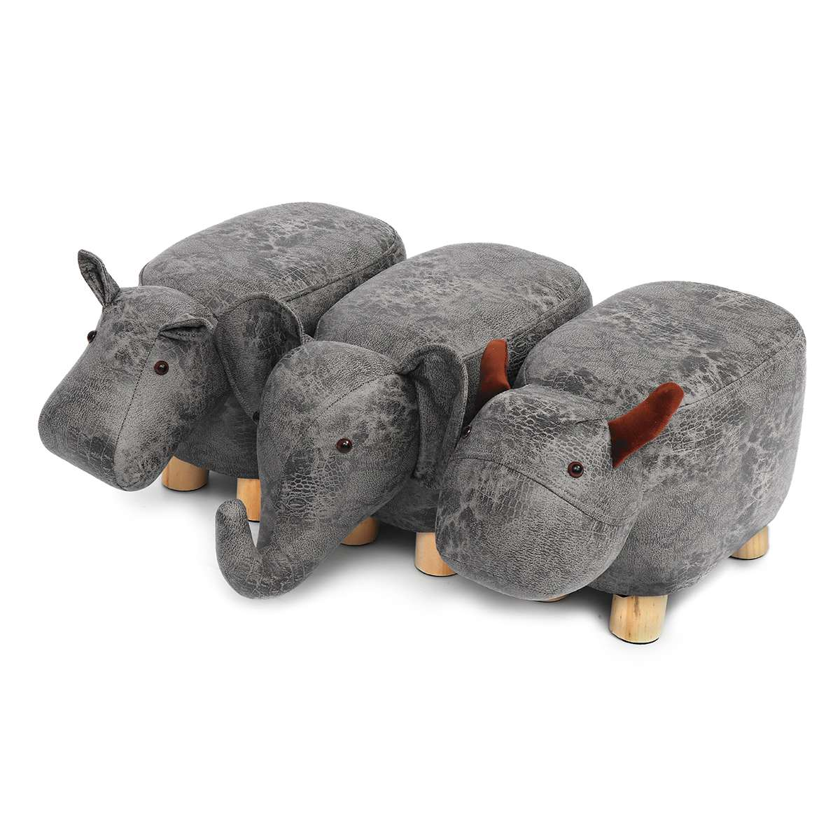 50x28x24cm Animal Shape Footstools Ottomans Shoes Sofa Padded Cushion Pouffe Stools Rest Seat Home Kids Bedroom Furniture Decor