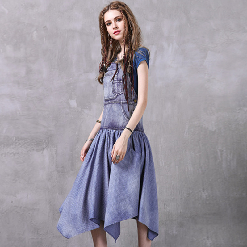 unregelmige 2428 sommer f denim marke dress set zVUMGSqpL
