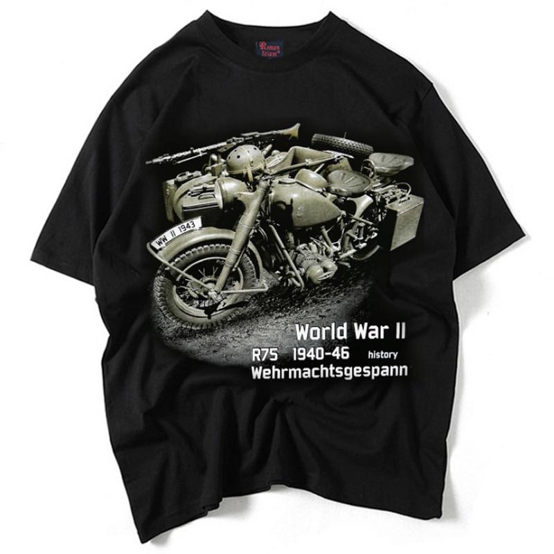 New Design Black CJ-K750 Men Motorcycle T shirt For CJK750 Motorcycle T-shirt R75 M1 M72 Ural KC750 Motorcycle Parts motorcycle parts 47 15 t front