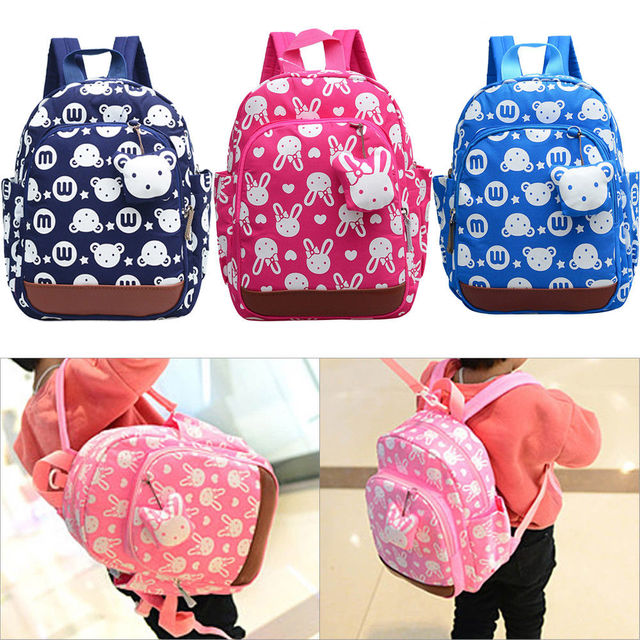 81b41f47e44b 2019 Newest Kids Boys Girls Baby Animal Backpack Lunch Box School Bag  Shoulder Cute Rabbit Cartoon Bag Backpacks