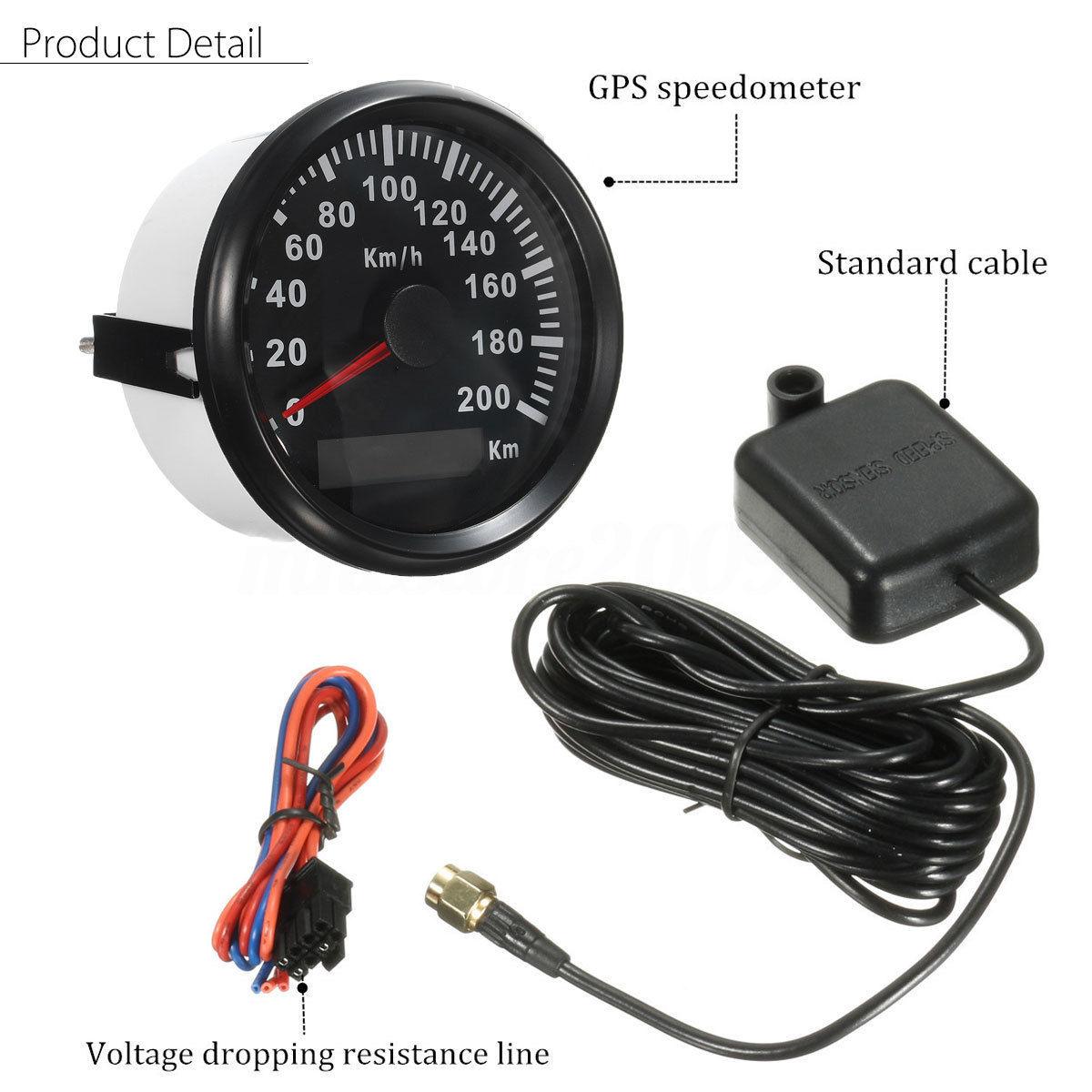 Jauges numériques imperméables automatiques de compteur de vitesse de Gps de moteur de voiture de 85Mm 200 Km/H - 6