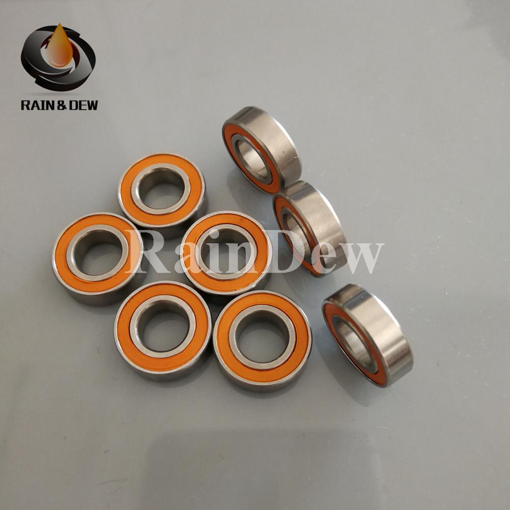 Yellow Rubber 50PCS 8x16x5  688-2RS ABEC3 8X16X5mm Model bearing Motor bearing