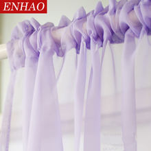 sheer curtains for the living room bed room modern tulle curtains drapes(China)