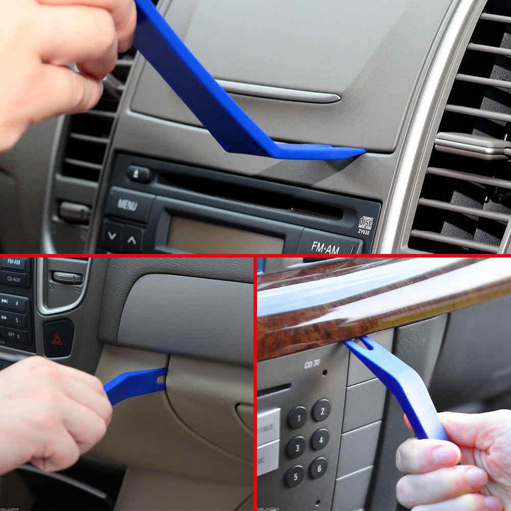 プロ 7 本ブルー Abs 自動車オーディオドアクリップパネルトリムダッシュオートラジオ駆除てこツールセット車のパネル除去ツール