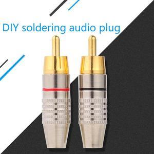 Image 2 - 10pcs RCA Soldering Connector Audio Video Plug DIY RCA Speaker Adapter Plug Speaker Terminal Video Locking Cable rca Stecker